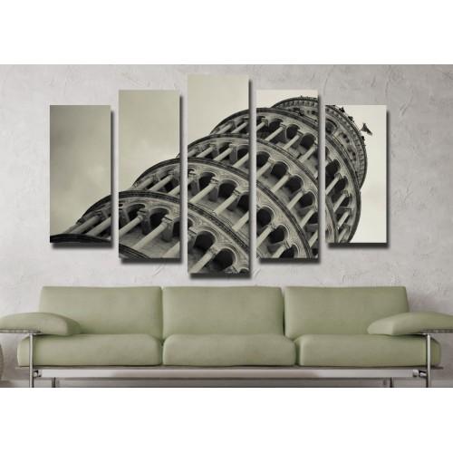Декоративни панели и картини от канава Модел 13 022 Пиза пет части
