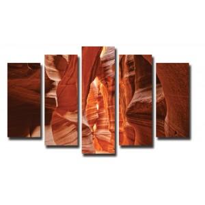 Декоративни панели и картини от канава Модел 13 024 скали пет части