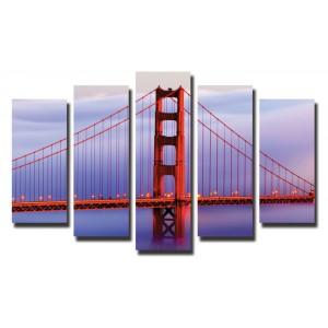 Декоративни панели и картини от канава Модел 13 025 Мост пет части