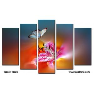 Декоративни панели 5 части или картини от канава Модел 13 026 цвете