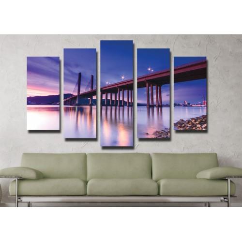 Декоративни панели и картини от канава Модел 13 028 Мост пет части