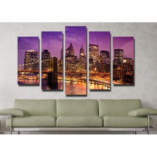 Декоративни панели и картини от канава Модел 13 029 Мост пет части