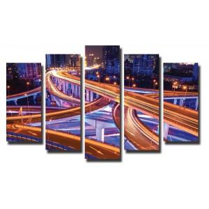 Декоративни панели и картини от канава Модел 13 030 Мост пет части