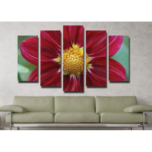 Декоративни панели и картини от канава Модел 13 039 цвете пет части