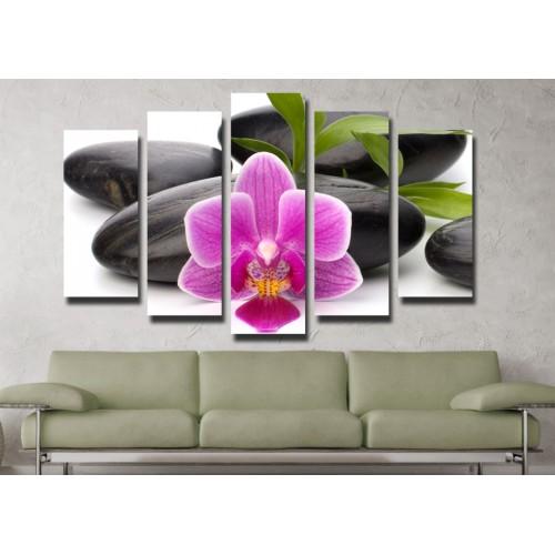 Декоративни панели и картини от канава Модел 13 046 цвете пет части