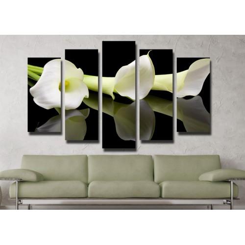 Декоративни панели и картини от канава Модел 13 048 цвете пет части