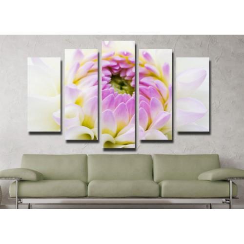 Декоративни панели и картини от канава Модел 13 049 цвете пет части