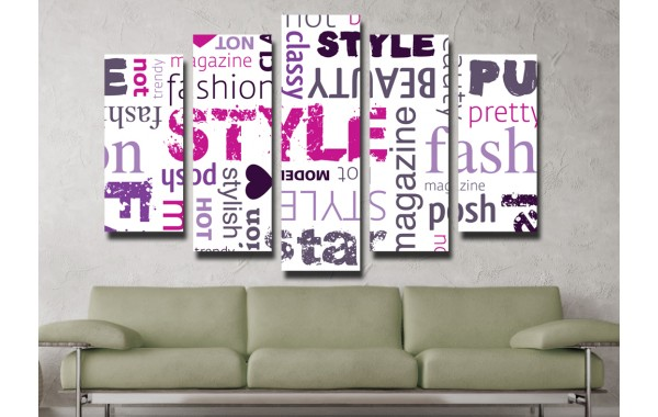 Декоративни панели и картини от канава Модел 13 051 мода пет части