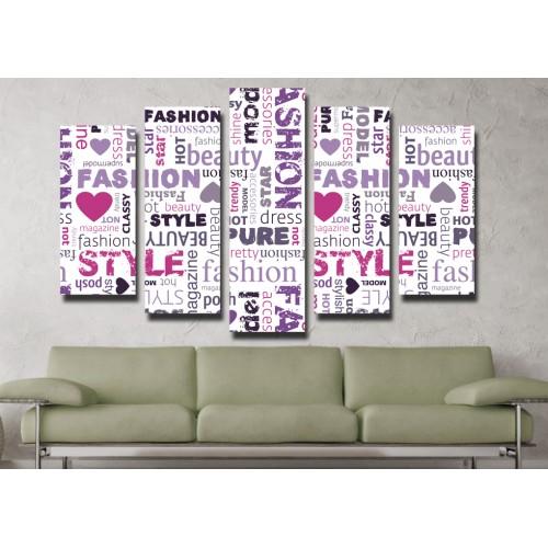 Декоративни панели и картини от канава Модел 13 061 пет части