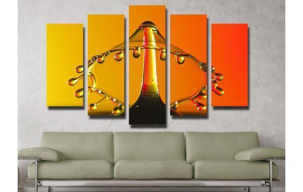 Декоративни панели и картини от канава Модел 13 073 вода пет части