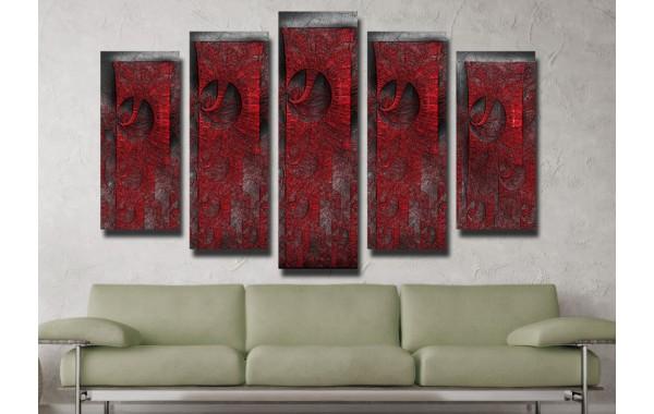 Декоративни панели и картини от канава Модел 13 074 абстракт пет части