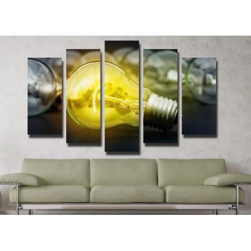 Декоративни панели и картини от канава Модел 13 075 лампа пет части