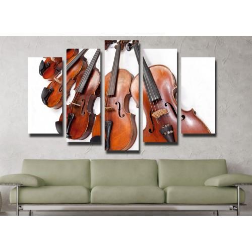 Декоративни панели и картини от канава Модел 13 079 цигулки пет части