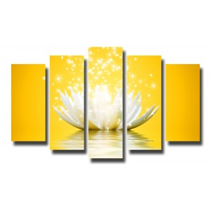 Декоративни панели и картини от канава Модел 13 080 цвете пет части