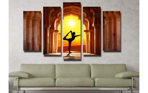 Декоративни панели и картини от канава Модел 13 081 танцьорка пет части
