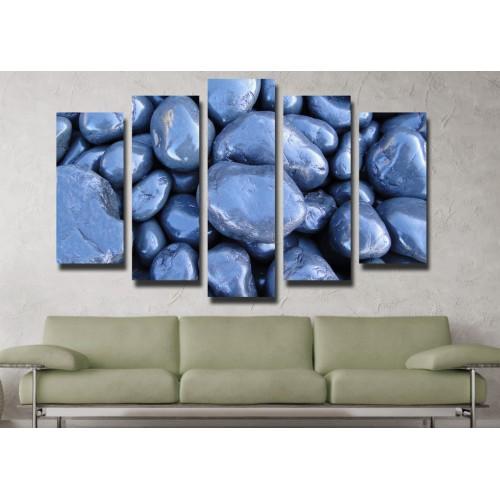 Декоративни панели и картини от канава Модел 13 086 камъни пет части