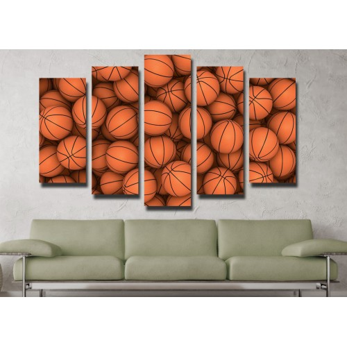 Декоративни панели и картини от канава Модел 13 087 топки пет части