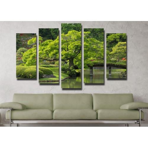 Декоративни панели и картини от канава Модел 13 091 дърво пет части