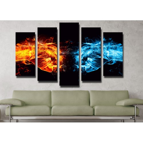Декоративни панели и картини от канава Модел 13 093 огнени пет части
