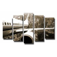 Декоративни панели и картини от канава Модел 13 094 самолет полет пет части