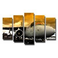 Декоративни панели и картини от канава Модел 13 103 самолет  пет части