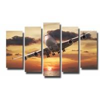 Декоративни панели и картини от канава Модел 13 104 самолет  пет части