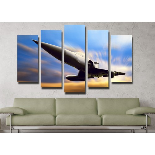 Декоративни панели и картини от канава Модел 13 105 самолет пет части