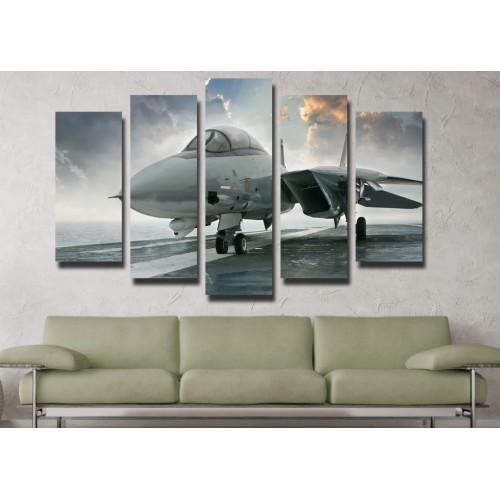 Декоративни панели и картини от канава Модел 13 106 самолет пет части