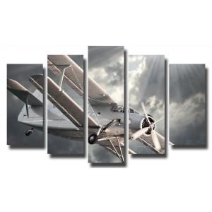 Декоративни панели и картини от канава Модел 13 107 самолет полет пет части