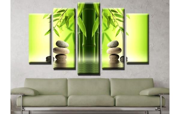 Декоративни панели 5 части или картини от канава Модел 13 124  бамбук