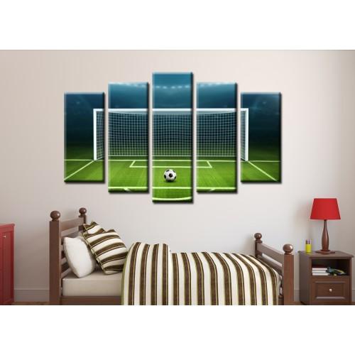 Декоративни панели и картини от канава Модел 13 144 футболна врата пет части