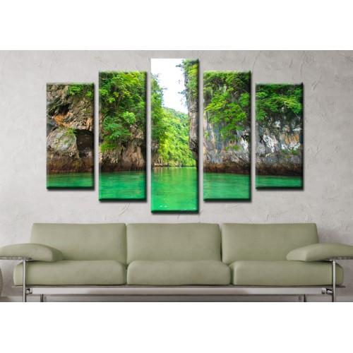 Декоративни панели и картини от канава Модел 13 146 Острови пет части