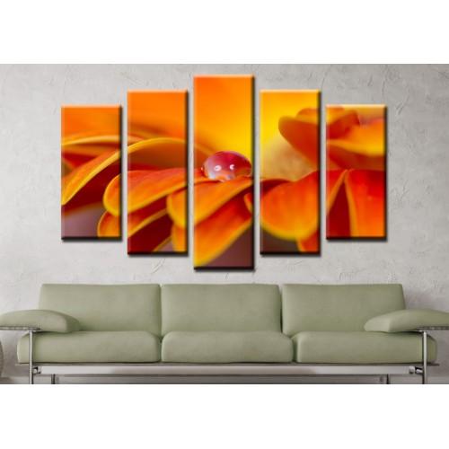 Декоративни панели и картини от канава Модел 13 148 цвете роса пет части