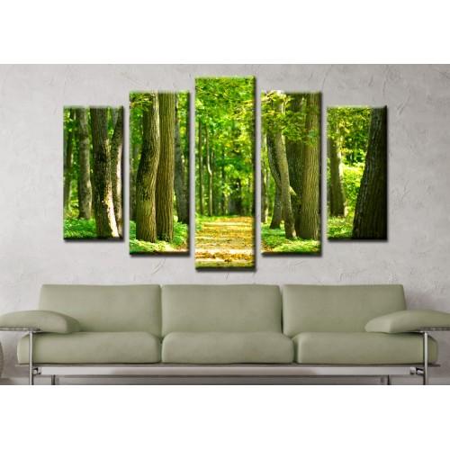 Декоративни панели и картини от канава Модел 13 152 гора пет части