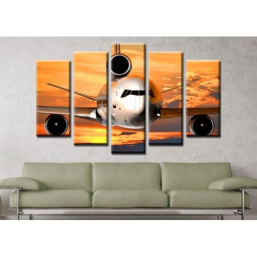 Декоративни панели и картини от канава Модел 13 167 самолет пет части