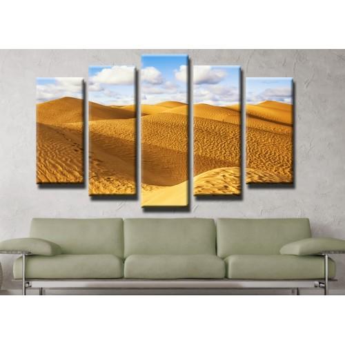 Декоративни панели и картини от канава Модел 13 188 пустиня пясък пет части
