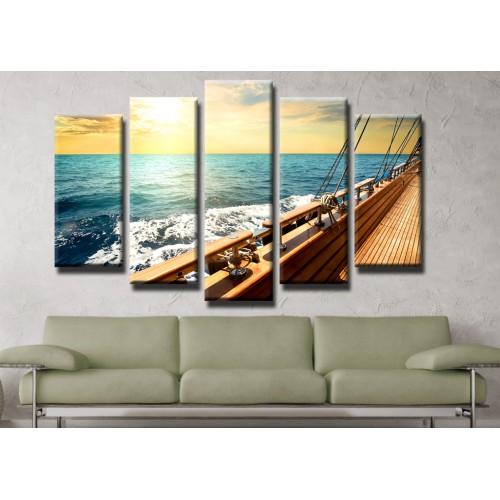Декоративни панели и картини от канава Модел 13 404 яхта палуба пет части