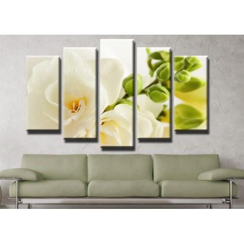 Декоративни панели и картини от канава Модел 13 405 цвете пет части