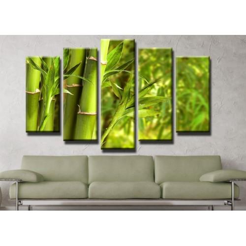 Декоративни панели и картини от канава Модел 13 413 бамбук пет части