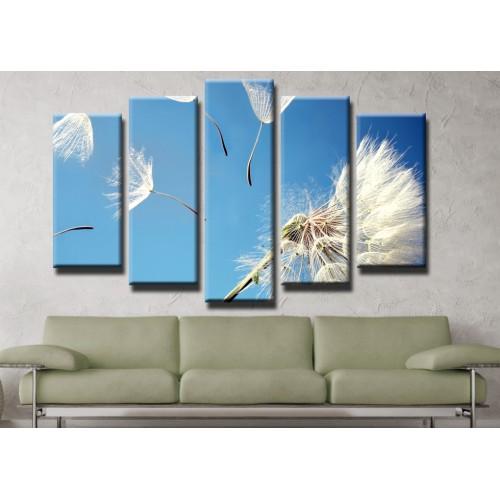 Декоративни панели и картини от канава Модел 13 415 глухарче пет части