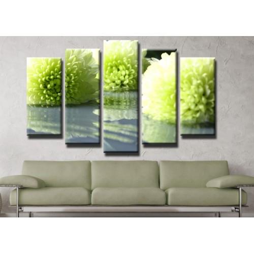 Декоративни панели и картини от канава Модел 13 419 цвят отражение пет части