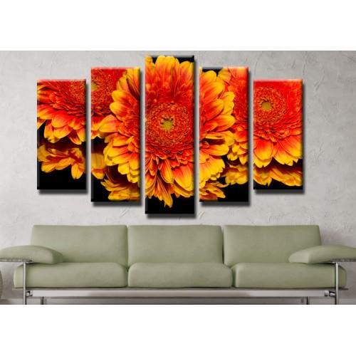 Декоративни панели и картини от канава Модел 13 420 цвят отражение пет части