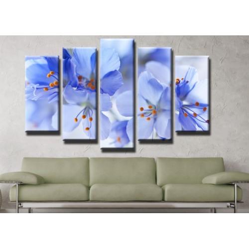 Декоративни панели и картини от канава Модел 13 428 цвят пролет пет части