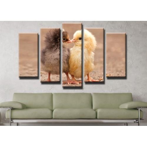 Декоративни панели и картини от канава Модел 13 437 пилета  пет части