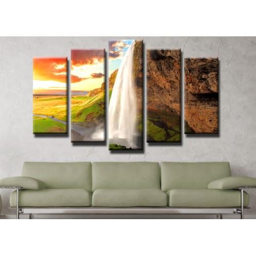 Декоративни панели и картини от канава Модел 13 441 водопад пет части