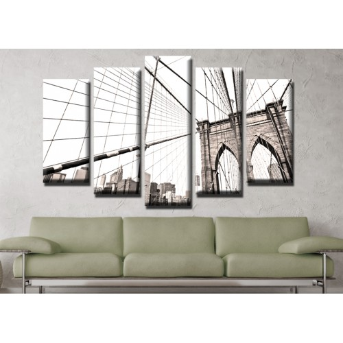 Декоративни панели и картини от канава Модел 13 475 мост въжета  пет части