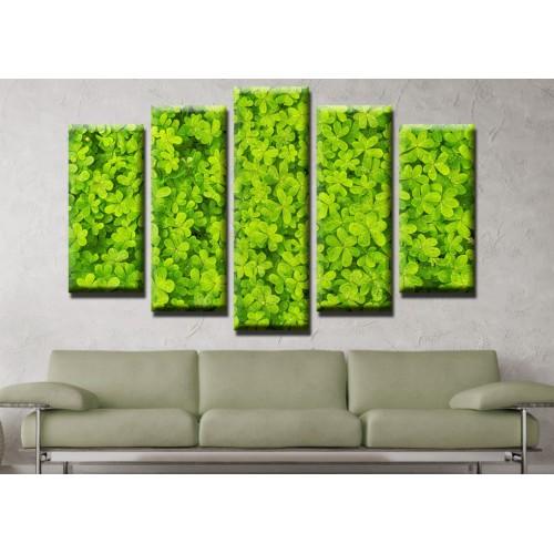 Декоративни панели и картини от канава Модел 13 485 цветя  пет части