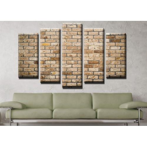 Декоративни панели и картини от канава Модел 13 486 тухли  пет части