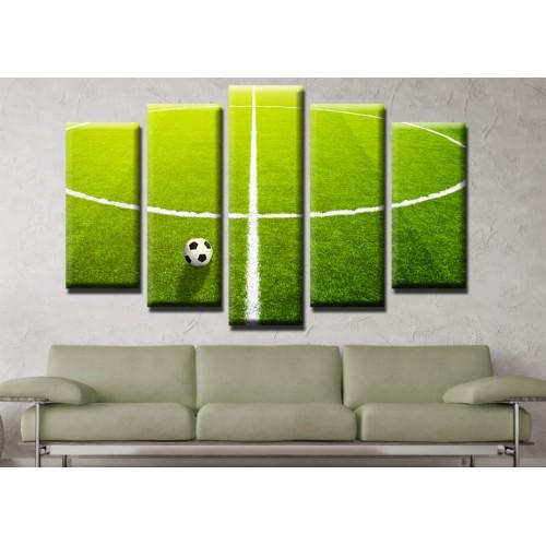 Декоративни панели и картини от канава Модел 13 488 футболно игрище топка  пет части