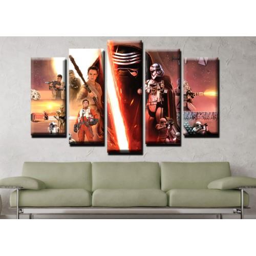 Декоративни панели и картини от канава Модел 13 489 междузвездни войни  пет части